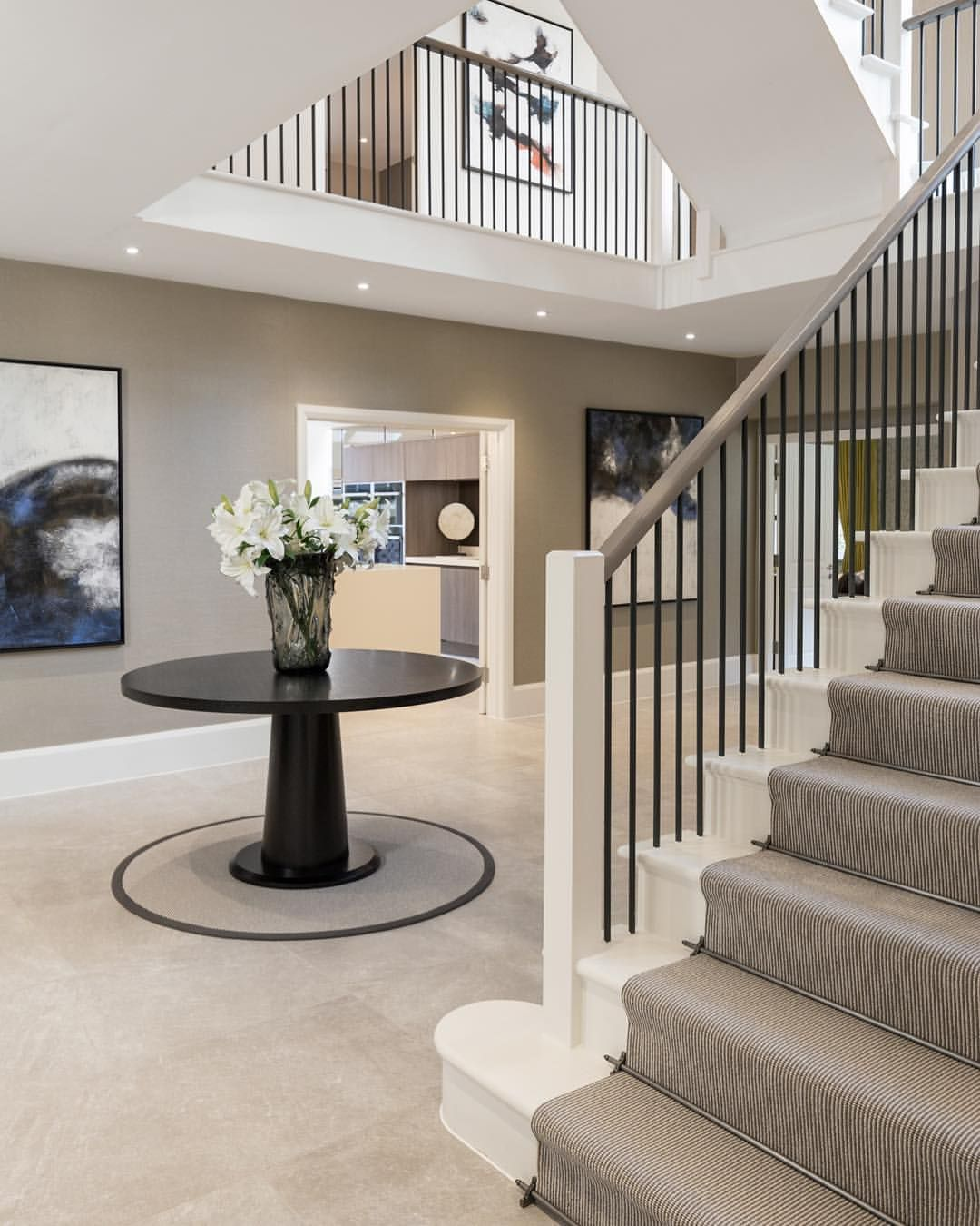 The Striking Open Plan Entrance Hall For Our Mulberry Show Home