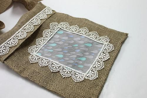 Como hacer bolsas de arpillera tela - Como hacer cuadros de tela ...