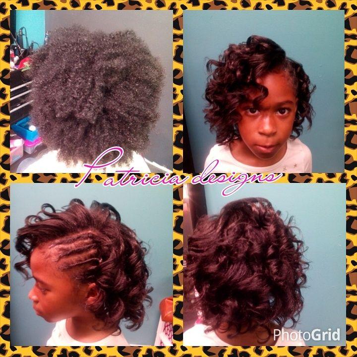 Peachy Cute Silk Press On A Little Girl Shared By Wilson745 Kid Kid Short Hairstyles Gunalazisus