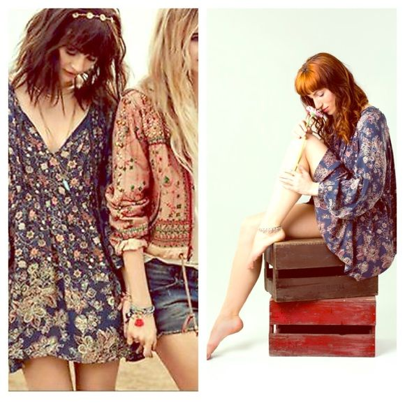 FREE PEOPLE Dress LOVE THIS DRESS! I have 2 of this same color- Indigo. Perfect condition and sold out at freepeople.com  Retail $128. Oversized fit.  Free People Dresses