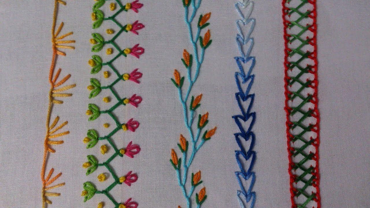 Pontos para iniciantes #embroidery