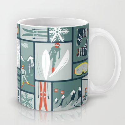 Nordic Winter Mug by Elizabeth Gomm - $15.00