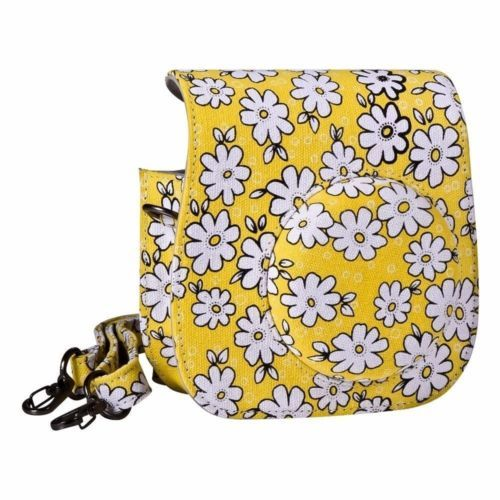 Fashion Instant Camera Case Bag for Fujifilm Instax Mini 8//9 Soft PU Yellow UK