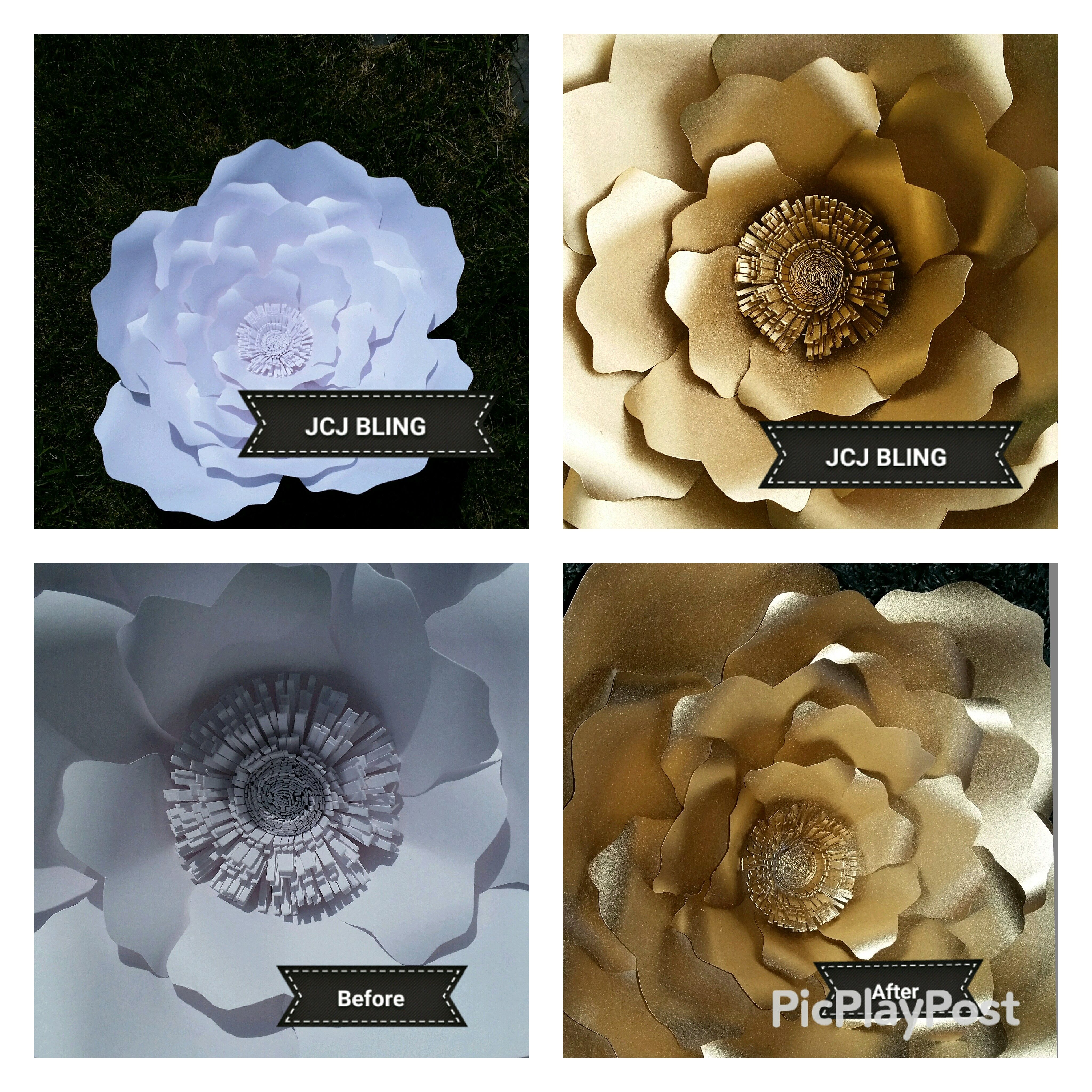 Beautiful Paper Flowers By Jcj Bling Find Us On Instagram Or