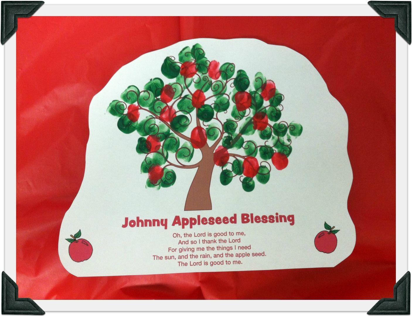 Johnny Appleseed Fingerprint Printable From Guildcraft