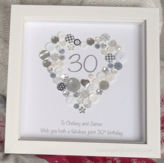 18th Birthday Gift - Button Picture Frame - Birthday Age 16th 18th ...