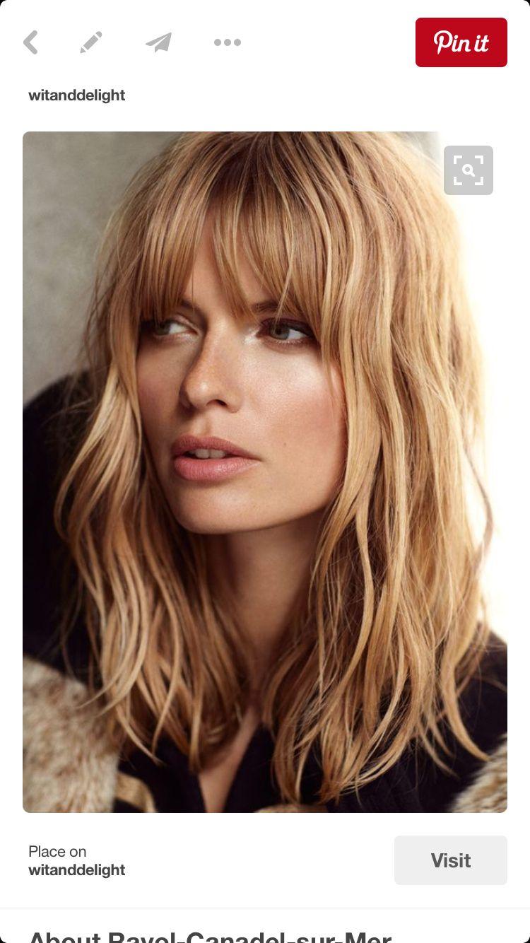 Medium fine hair bangs u My wishlist Pinterest Hair Hair