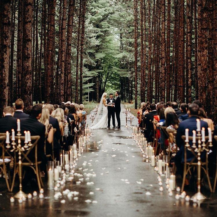 Outdoor Wedding Ceremony Whitby: Rustic Boho Outdoor Forest Woodland Wedding Ceremony Decor