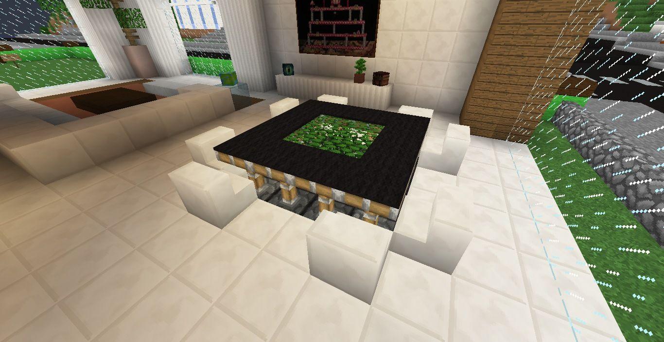 Minecraft Furniture - Tables - Designer Piston Table | Minecraft ...