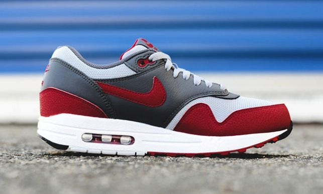 Nike Air Max 1 Essential Wolf Grey Gym Red | sneakers
