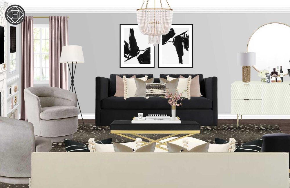 Living Room Design by Havenly Interior Designer Hannah #havenlylivingroom