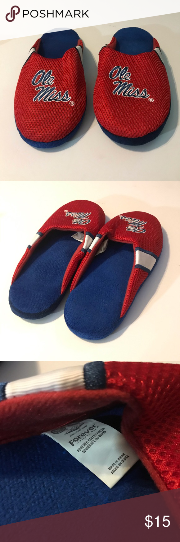 University of Mississippi Ole Miss Slippers 11/12 Ole