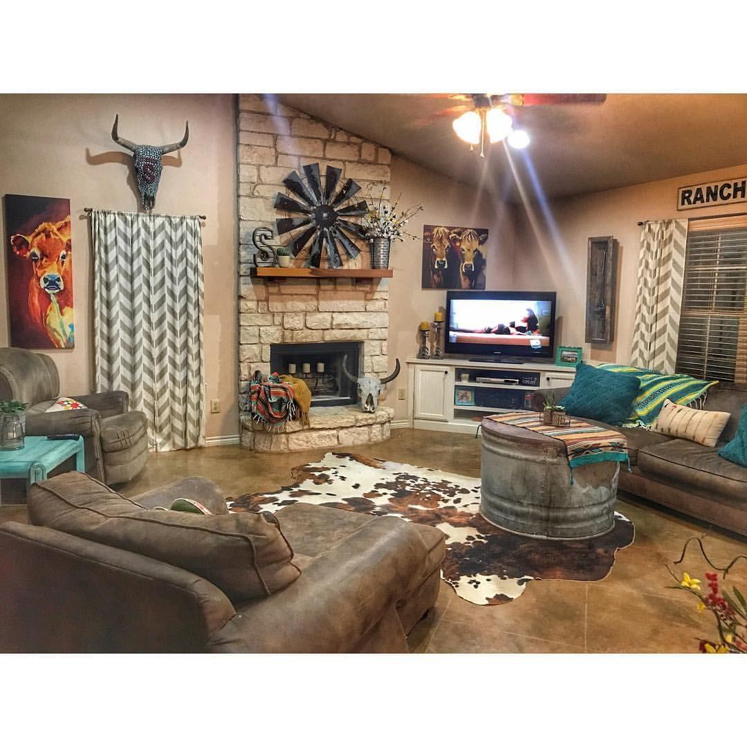 pinheather brunton on my house  western living room