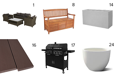 Get the Look - Quinn & Ben's Backyard - The Block NZ 2014 - visit blog.curate.co.nz for links to these products and more