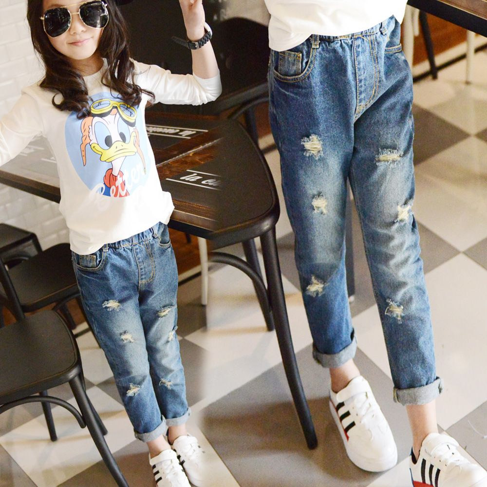 great quality street price new products Ripped Jeans For Kids Teenagers 5 6 7 8 9 10 11 12 13 14 15 ...