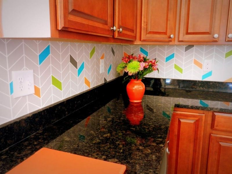15 Ideas For Removable Diy Kitchen Backsplashes Rental