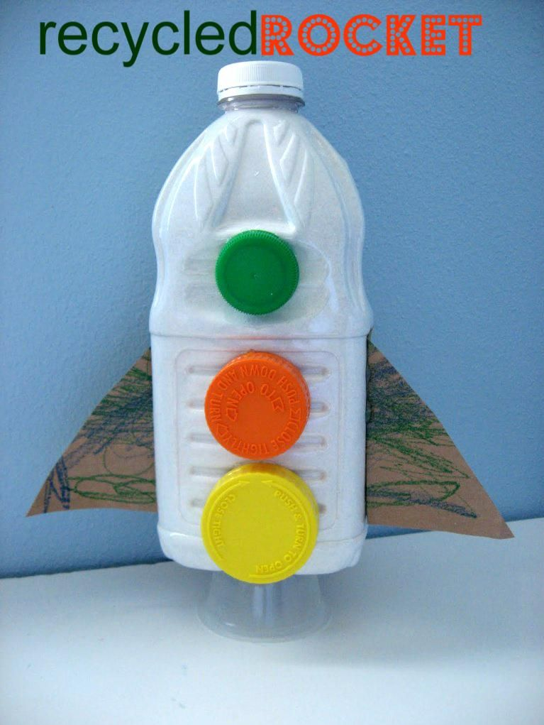 Recycling Craft Ideas For Kids Part - 44: DIY Kids Crafts : DIY Recycled Rocket Craft