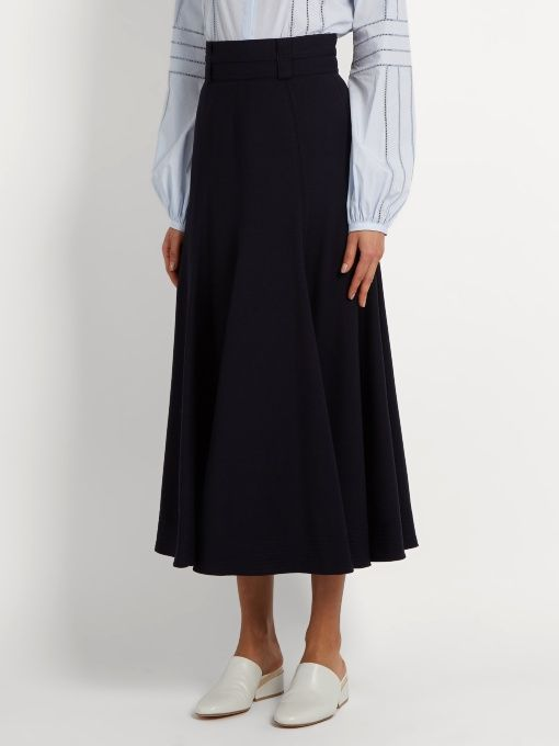 Gabriela Hearst Spencer flared wool-blend skirt