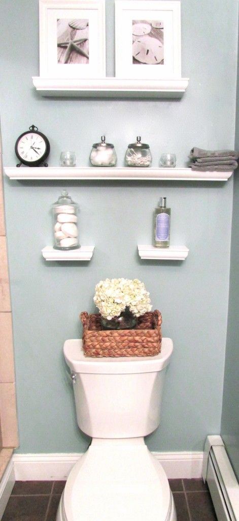 Small Bathroom Inspiration Reveal Eventful Life Like The Basket With Hydrangeas And The Two Bigger Shelves