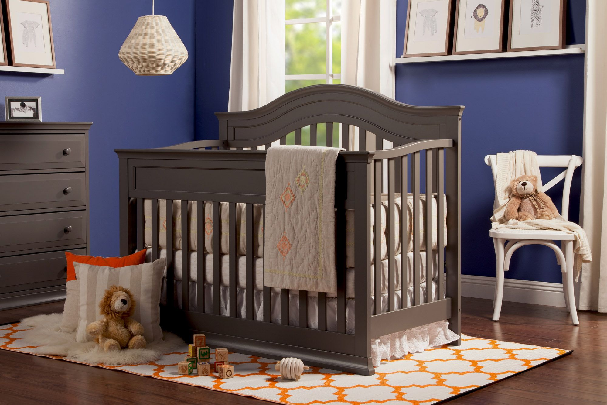 Brook 4in1 Convertible Crib With Toddler Bed Conversion