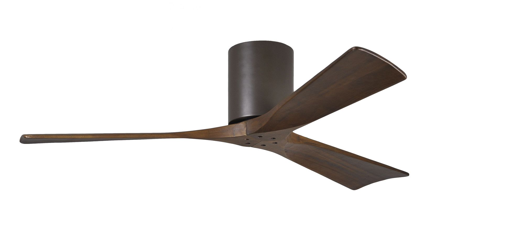 """52"""" Irene 3 Blade Hugger Ceiling Fan with Hand Held and Wall Remote"""