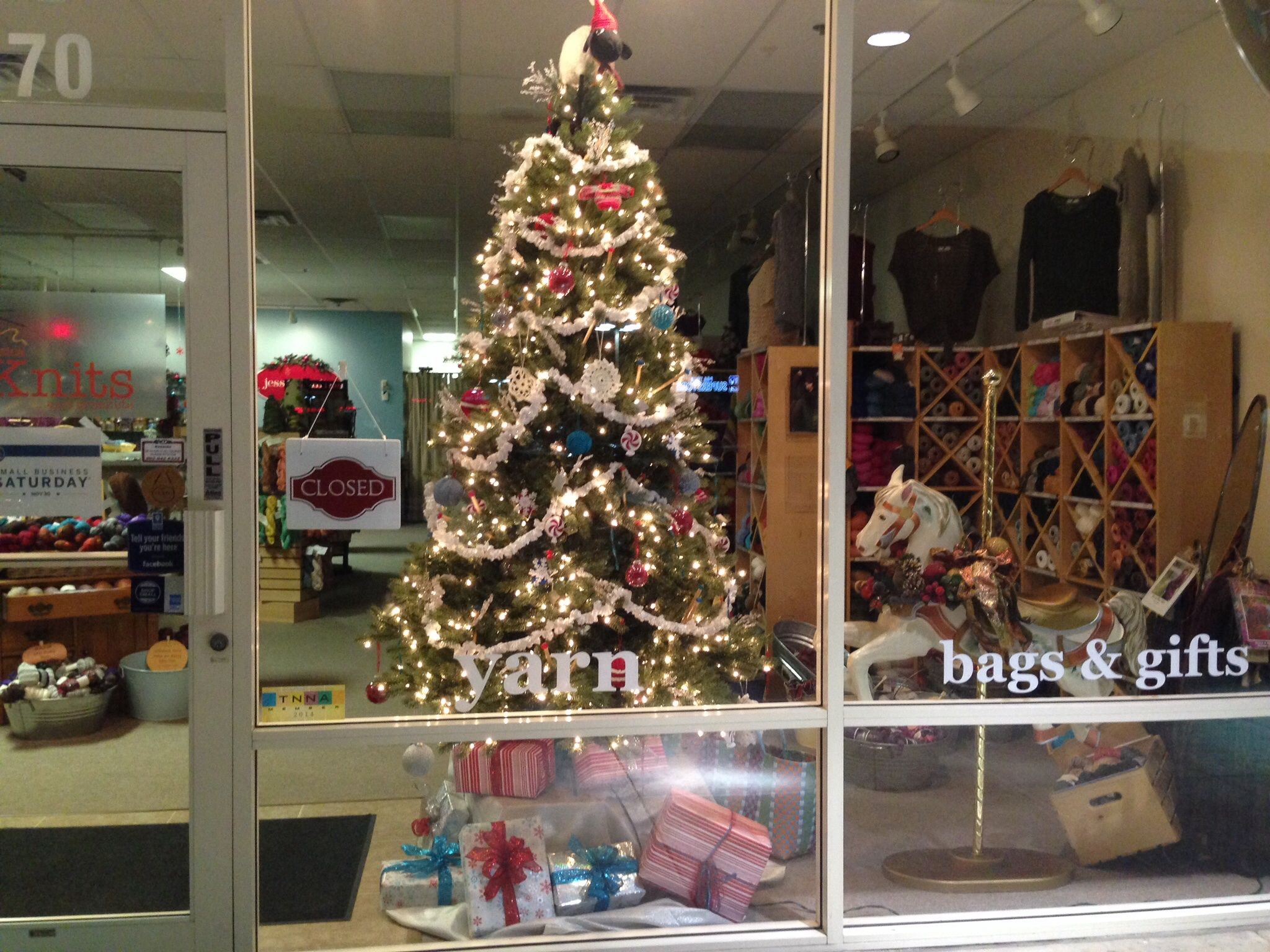 Our store front...ready for the holidays!