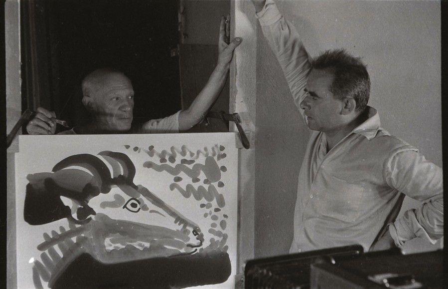 """Henri-Georges Clouzot (1907-1977), """"Le Mystère Picasso"""", 1956, série de soixante-dix négatifs originaux, 24 x 36 cm. Adjugé : 16 875 € Lundi 3 octobre, salle 2 - Drouot-Richelieu. Tessier & Sarrou et Associés OVV. M. Choko."""