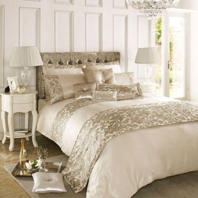 Kylie Minogue at home Cream  Eloise  bed linen  at Debenhams com. Kylie Minogue at home Cream  Eloise  bed linen  at Debenhams com