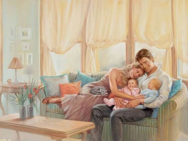 Voluptuous Images By Ed Tadiello Mother Art Family Illustration