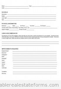 real estate information sheet template
