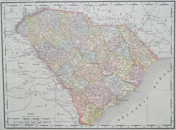 Map Of Florida Georgia South Carolina.South Carolina Georgia Map