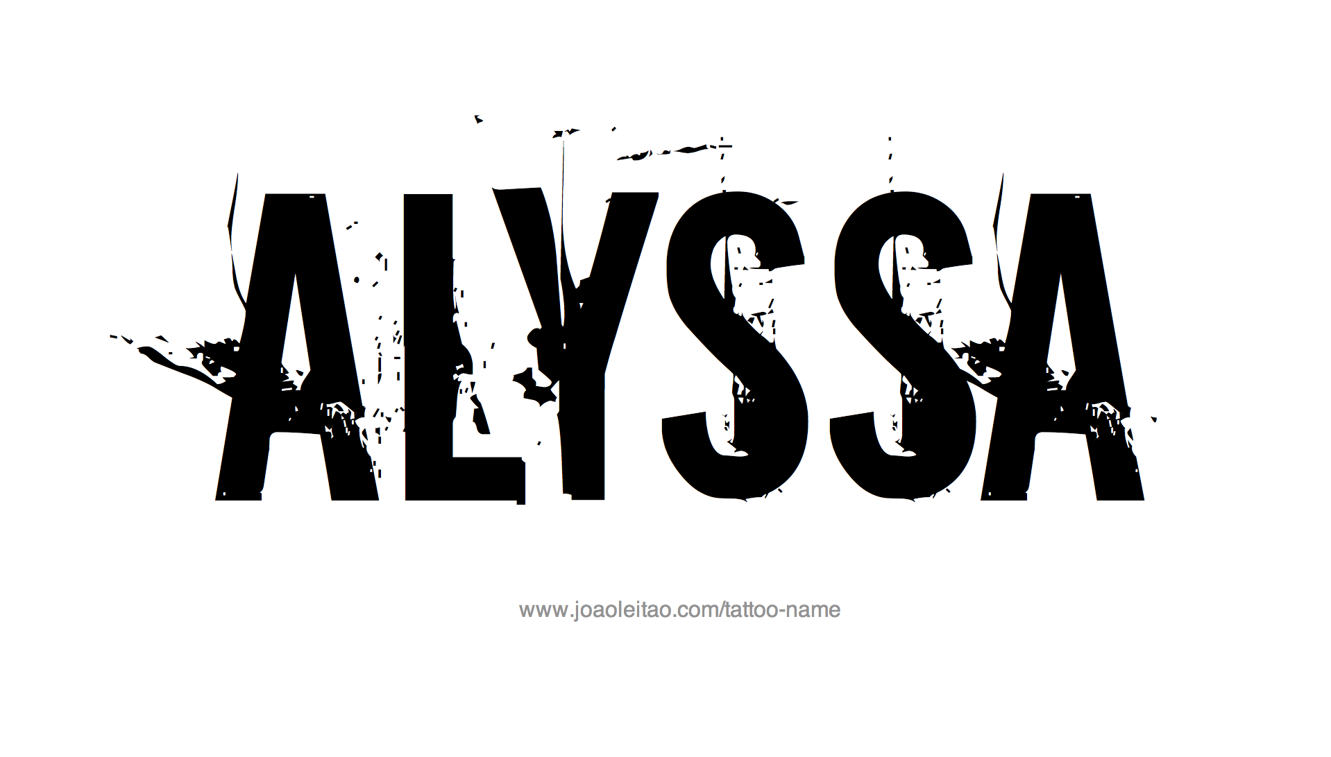Alyssa Name Tattoo Designs (With images) | Name tattoo ...