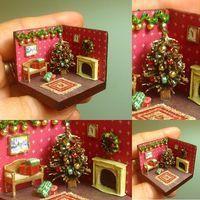Christmas roombox 1/144
