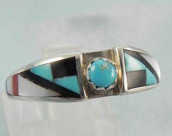 Native American Turquoise Wedding Ring Set | Turquoise wedding ...