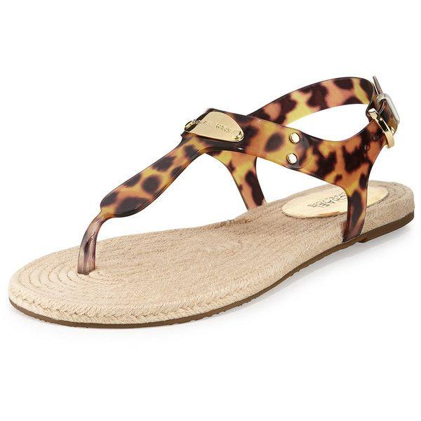 35c96f72d MICHAEL Michael Kors Hazel Flat Jelly Thong Sandal ( 79) ❤ liked on  Polyvore featuring