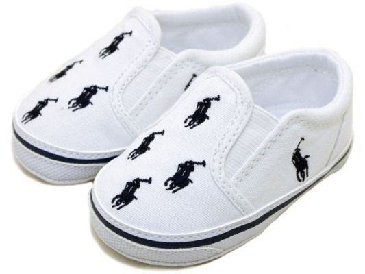 White Polo Ralph Lauren Baby Shoes For Christmas Image6