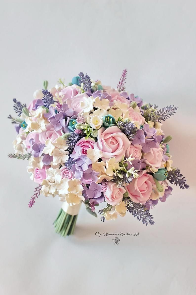 Roses Narcissus Lilacs Light Purple Cream And White