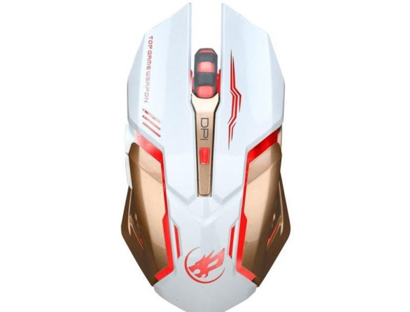 EDTO Wireless Gaming Mouse 2.4GHz Gaming Mouse Rechargeable Mouse Ergonomic Optics Mice