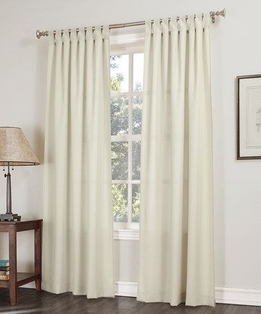 Love This Ecru No 918 Jacob Solid Panel By Lichtenberg On Zulily Zulilyfinds With Images White Paneling Curtains Panel Curtains