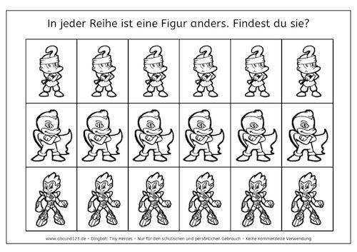 Minihelden: Finde den Unterschied - Tiny heroes: Find the difference