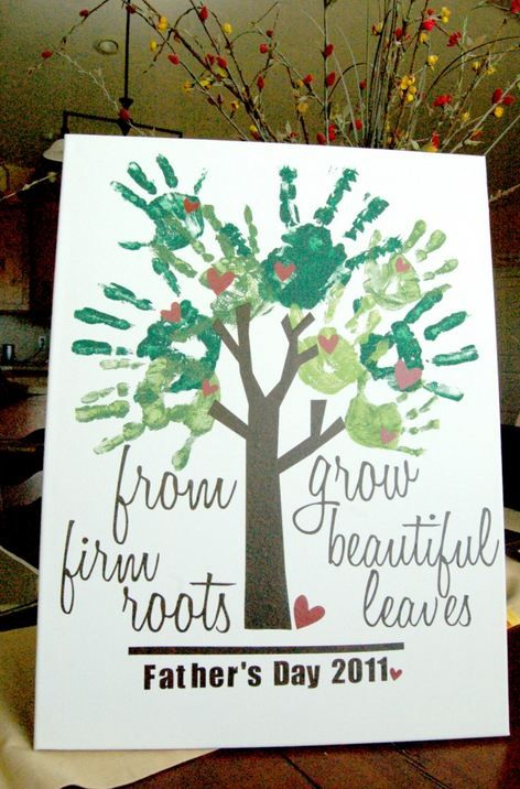 Gift Ideas For Father To Be Part - 31: Fathers Day Gift Idea Kids Finger Paint Tree