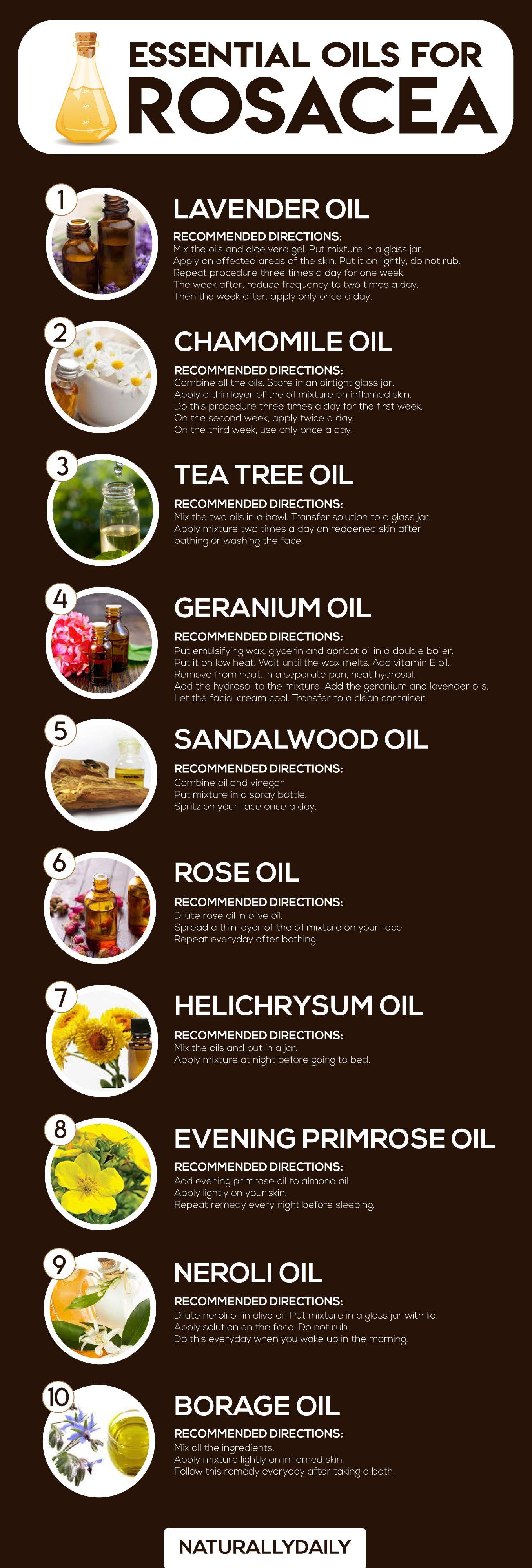 13 Essential Oils for Rosacea and How to Use Them #diyskincare