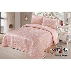 Cotton House Deluxe Runnow Çift Kişilik Yatak Örtüsü Takımı
