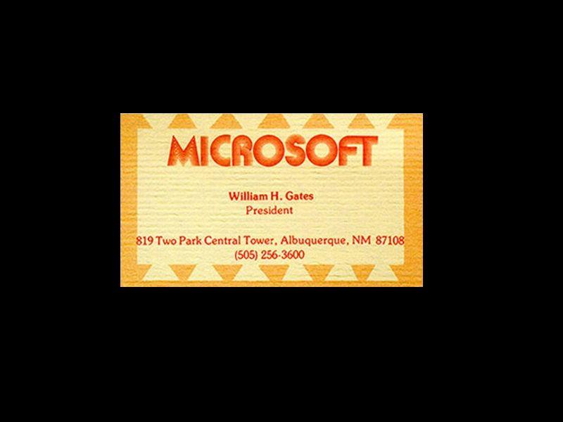 La tarjeta de visita de Bill Gates | cosejas chulas | Pinterest