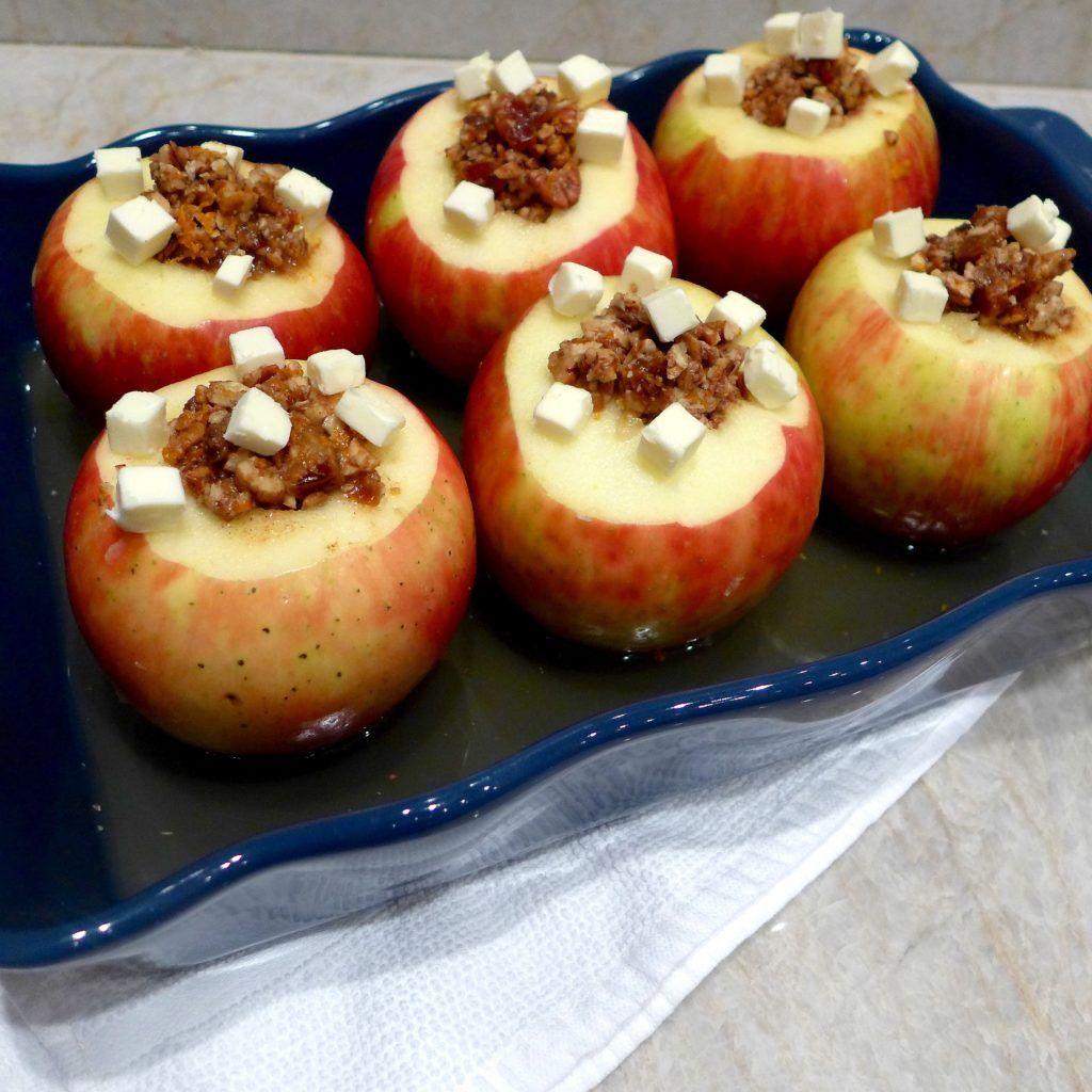 Date Nut Stuffed Baked Apples