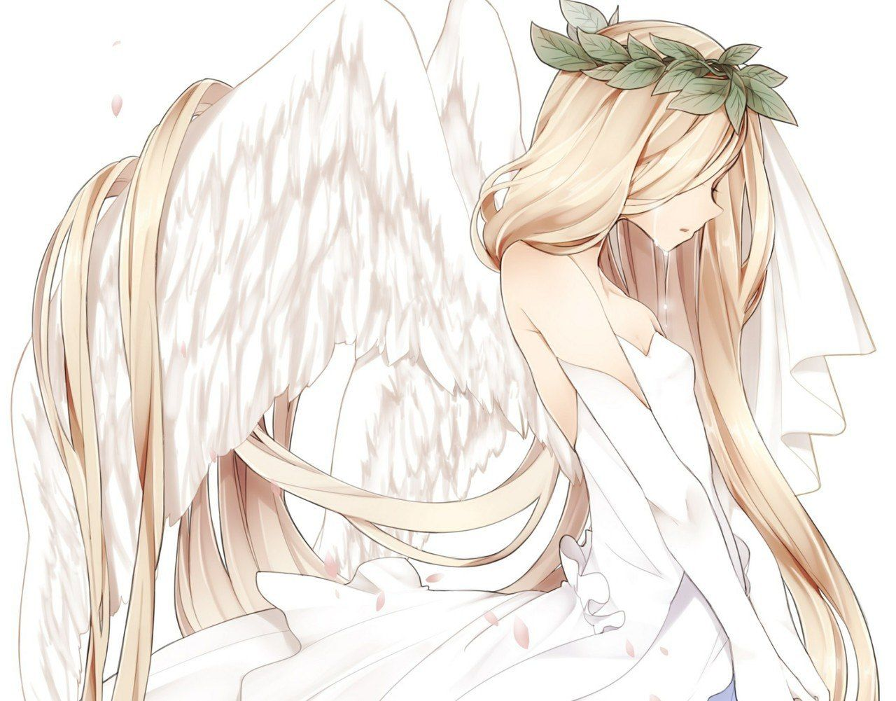 imagem de anime angel and sad penteados pinterest