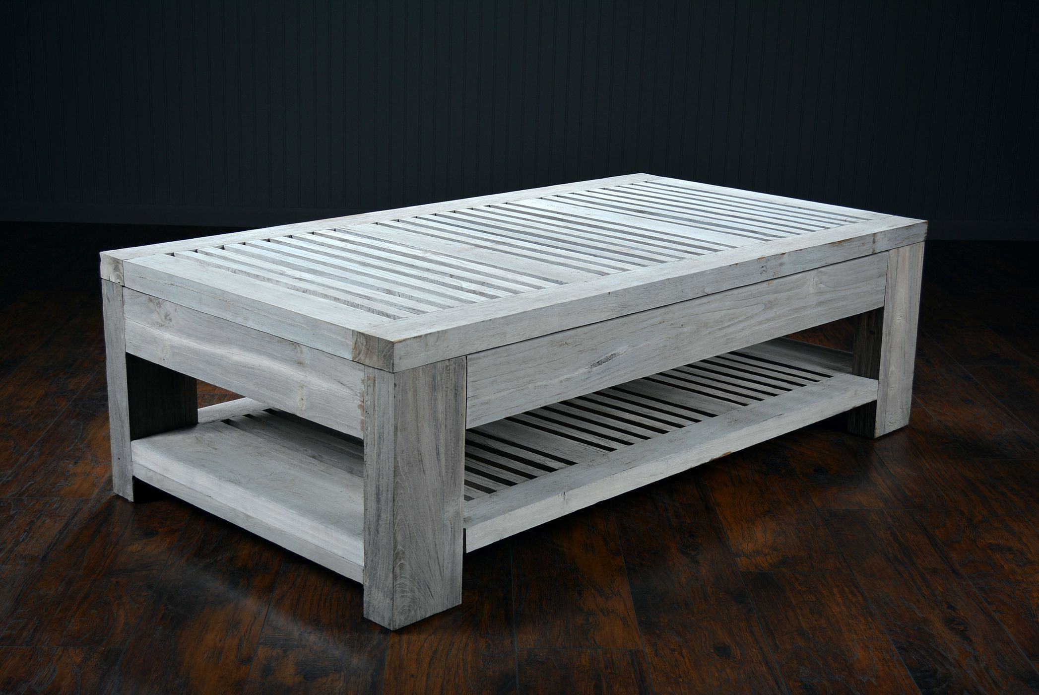 Slatted Reclaimed Aged Teak Outdoor Coffee Table in 2019 ...