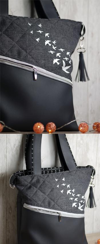 Was für eine tolle Tasche aus Kunstleder unsere Mona da gezaubert ...