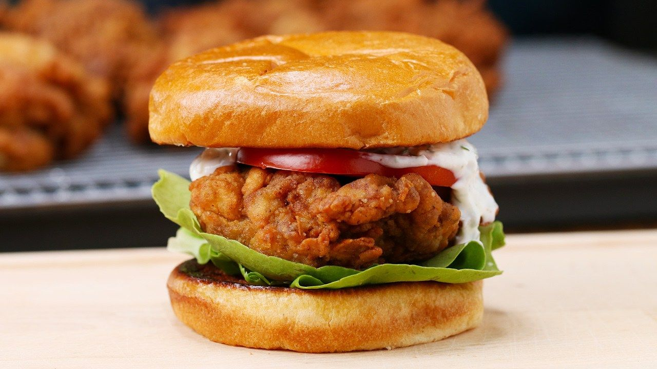 buttermilk fried chicken sandwich u2013 buzzfeed tasty sandwiches