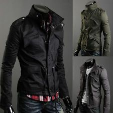 Hooded Military Slim Fit Coat | Fashion and Style for Men ...